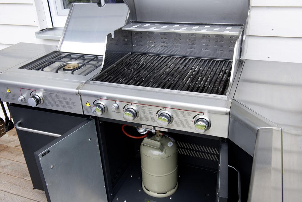 edelstahl kochstation grillstation k che au enk che gasgrill gas grill bbq ebay. Black Bedroom Furniture Sets. Home Design Ideas