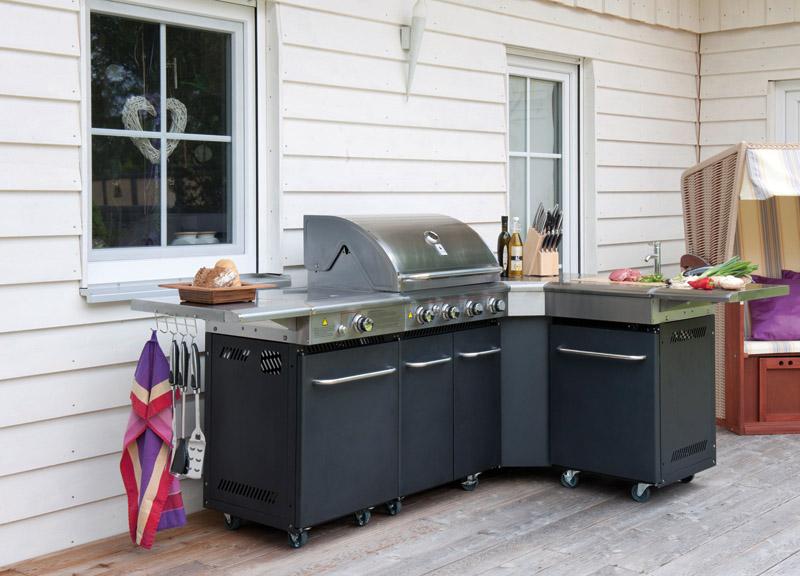 edelstahl kochstation grillstation k che au enk che. Black Bedroom Furniture Sets. Home Design Ideas
