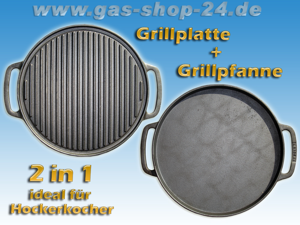 38 cm gussgrillplatte grillplatte f r hockerkocher. Black Bedroom Furniture Sets. Home Design Ideas