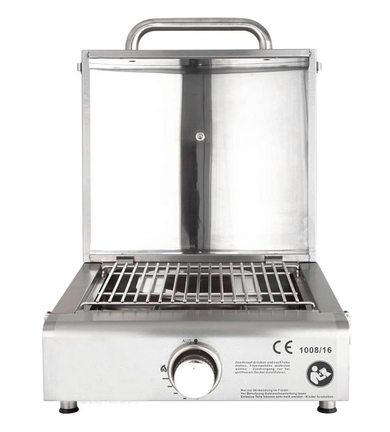 portable edelstahl gasgrill gas grill partygrill bbq pizzaofen camping multi ebay. Black Bedroom Furniture Sets. Home Design Ideas