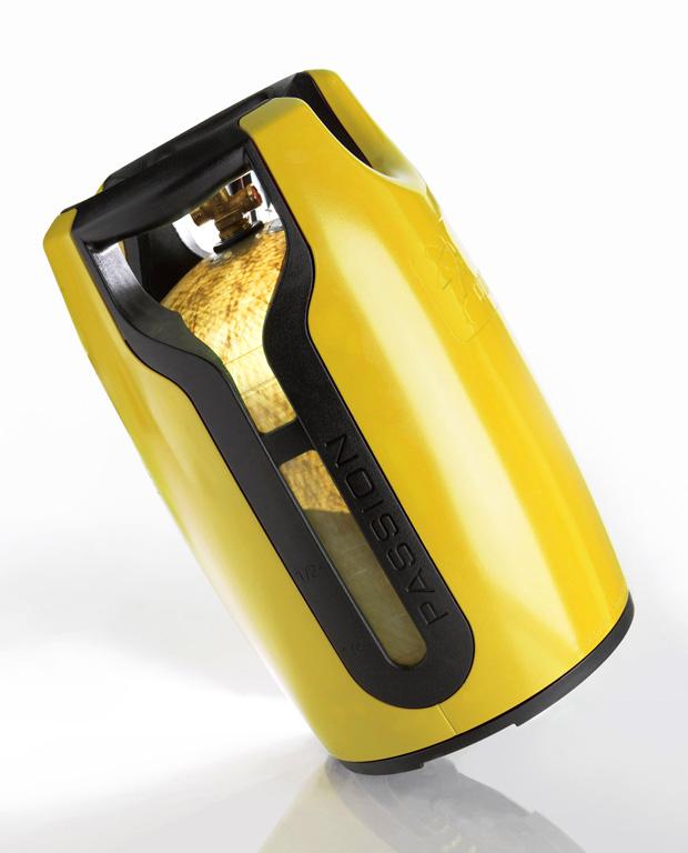 gfk kunststoff gasflasche 8 kg propangasflasche gas. Black Bedroom Furniture Sets. Home Design Ideas