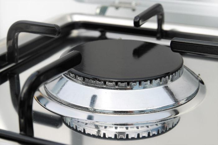 Details zu kleinküche gas backofen mit 2 kochstellen gaskocher