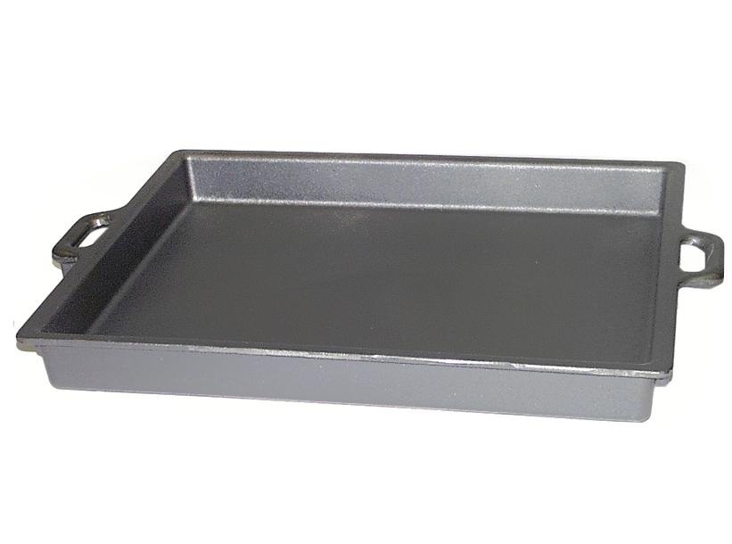 60 x 43 cm gusseisen riesenpfanne eckig gusspfanne eisenguss eisengusspfanne ebay. Black Bedroom Furniture Sets. Home Design Ideas